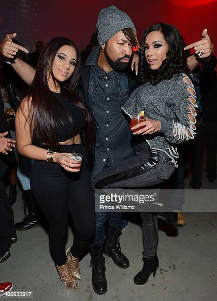 Cyn Santana Ty Hunter and Erica Mena attend the Never Stop Never Settle party at Spring Studios on February 2 2014 in New York City