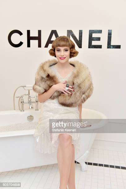 CyN, wearing Chanel, attends a Chanel Party to Celebrate the Chanel Beauty House and @WELOVECOCO at Chanel Beauty House on February 28, 2018 in Los...