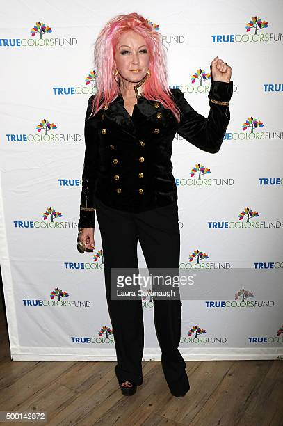Cyndi Lauper 5th Annual Cyndi Lauper And Friends Home For The Holidays benefit concert at The Beacon Theatre on December 5 2015 in New York City