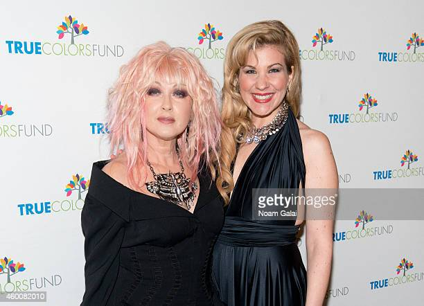 "Cyndi Lauper and Emily West attend the 4th Annual ""Home For The Holidays"" Benefit Concert at Beacon Theatre on December 6, 2014 in New York City."