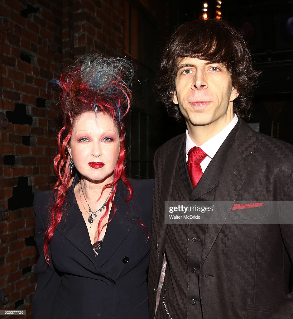 cyndi lauper and husband david thornton attending the. Black Bedroom Furniture Sets. Home Design Ideas
