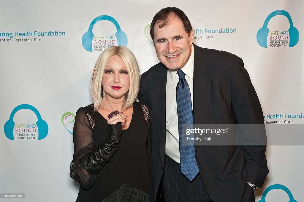 Cyndi Lauper and Richard Kind attend the Hearing Health Foundation's An Intimate Evening with Cyndi Lauper at B.B. King Blues Club & Grill on February 6, 2013 in New York City.