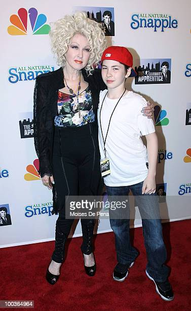 Cyndi Lauper and son Declyn Wallace Thompson Lauper attend The Celebrity Apprentice Season 3 finale after party at the Trump SoHo on May 23 2010 in...