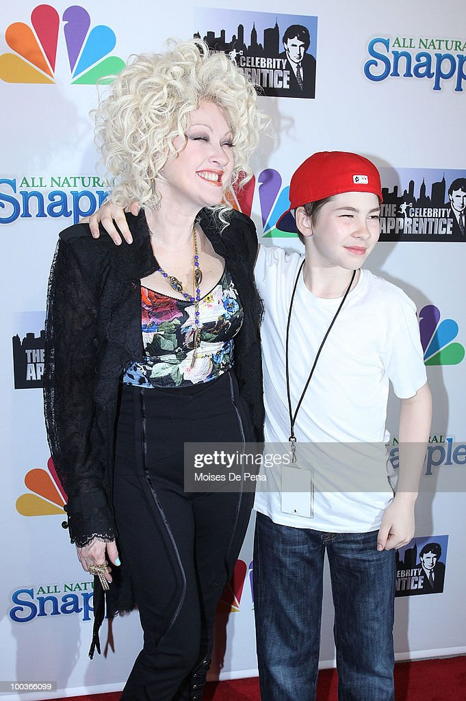 Cyndi Lauper and son Declyn Wallace Thompson Lauper attend 'The Celebrity Apprentice' Season 3 finale after party at the Trump SoHo on May 23, 2010 in New York City.