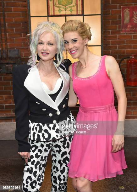 Cyndi Lauper and Verity RushworthShaw attend the 'Kinky Boots' Gala Night in support of Heads Together at Adelphi Theatre on May 29 2018 in London...