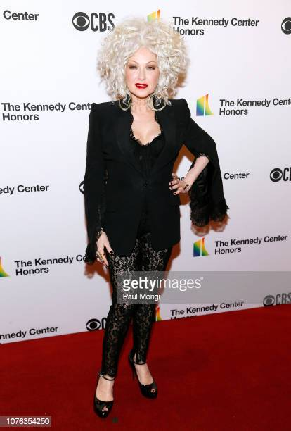 Cyndi Lauper arrives at the 2018 Kennedy Center Honors at The Kennedy Center on December 02 2018 in Washington DC