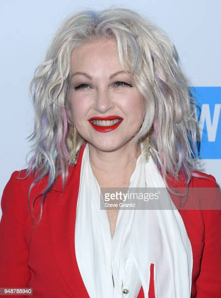 Cyndi Lauper arrives at the WE Day California To Celebrate Young People Changing The World at The Forum on April 19 2018 in Inglewood California