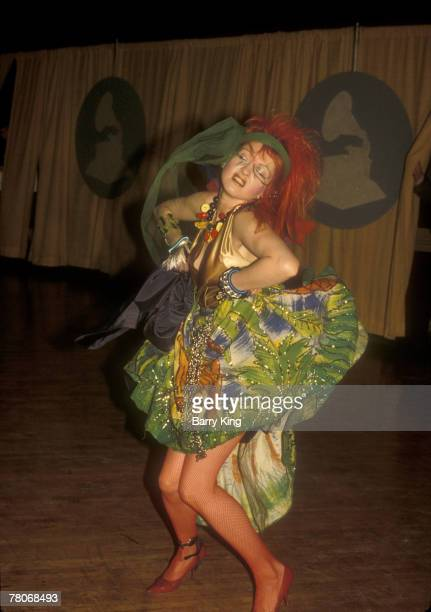 Cyndi Lauper at the Grammys in Los Angeles California on February 28 1984