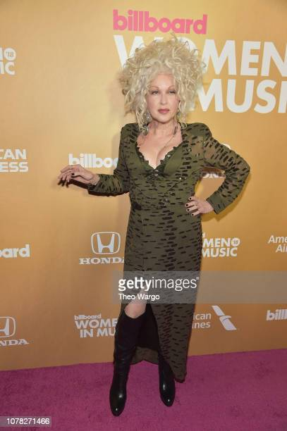 Cyndi Lauper attends Billboard's 13th Annual Women In Music Event at Pier 36 on December 06 2018 in New York City