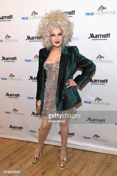 Cyndi Lauper attends Cyndi Lauper's 8th Annual 'Home For The Holidays' Benefit Concert at Beacon Theatre on December 08 2018 in New York City
