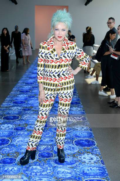 Cyndi Lauper attends Libertine fashion show during New York Fashion Week The Shows at Gallery II at Spring Studios on September 11 2019 in New York...