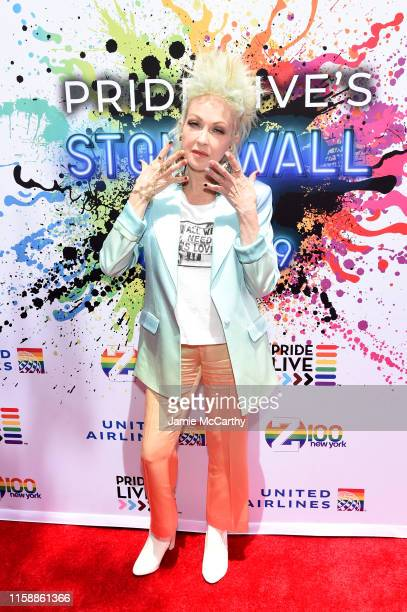 Cyndi Lauper attends Pride Live's 2019 Stonewall Day on June 28 2019 in New York City