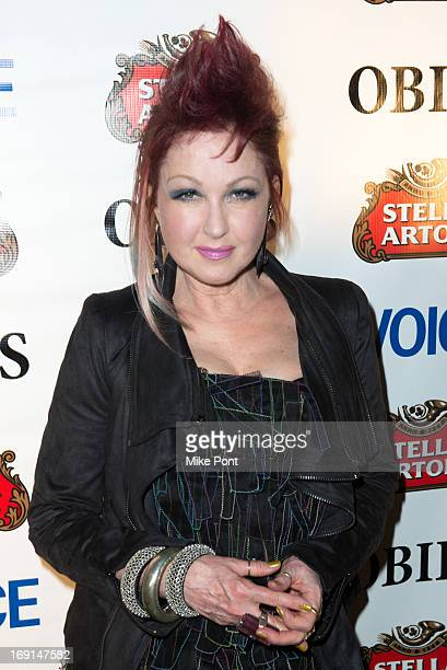 Cyndi Lauper attends the 2013 Obie Awards at Webster Hall on May 20, 2013 in New York City.