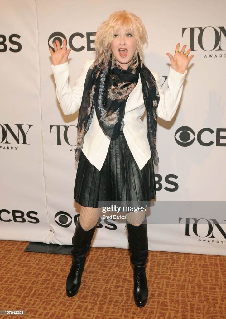 Cyndi Lauper attends the 2013 Tony Awards Meet The Nominees Press Reception on May 1, 2013 in New York City.