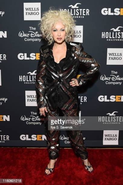 Cyndi Lauper attends the 2019 GLSEN Respect Awards at Cipriani 42nd on May 20, 2019 in New York City.