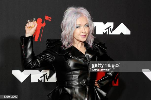 Cyndi Lauper attends the 2021 MTV Video Music Awards at Barclays Center on September 12, 2021 in the Brooklyn borough of New York City.