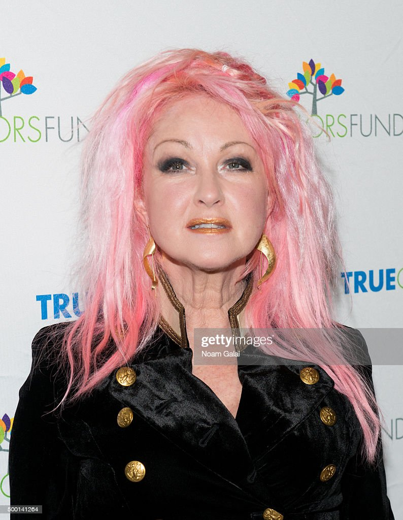 Cyndi Lauper attends the 5th Annual 'Cyndi Lauper and Friends: Home For The Holidays' benefit concert at The Beacon Theatre on December 5, 2015 in New York City.