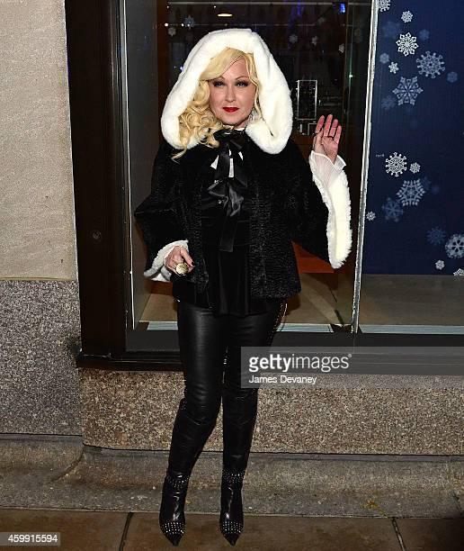 Cyndi Lauper attends the 82nd Annual Rockefeller Christmas Tree Lighting Ceremony at Rockefeller Center on December 3 2014 in New York City