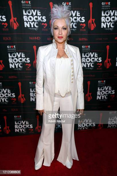 Cyndi Lauper attends the Fourth Annual LOVE ROCKS NYC Benefit Concert For God's Love We Deliver at Beacon Theatre on March 12, 2020 in New York City.
