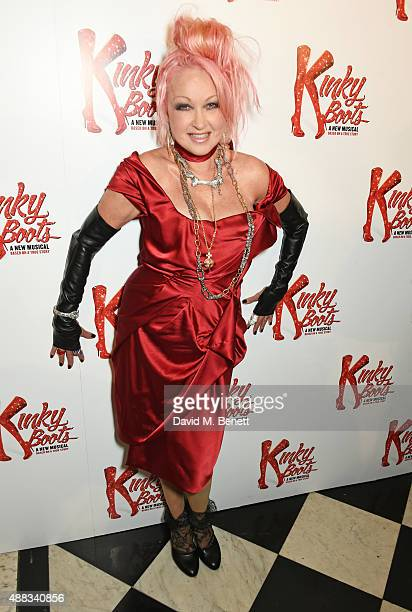 Cyndi Lauper attends the Kinky Boots after party on opening night at The Grand Connaught Rooms on September 15 2015 in London England