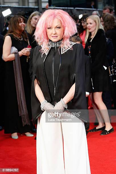 Cyndi Lauper attends The Olivier Awards with Mastercard at The Royal Opera House on April 3 2016 in London England