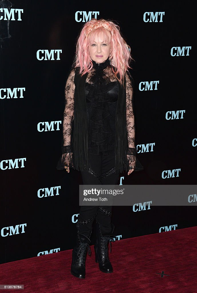 Cyndi Lauper attends the Viacom Kids and Family Group Upfront event at Frederick P. Rose Hall, Jazz at Lincoln Center on March 3, 2016 in New York City.
