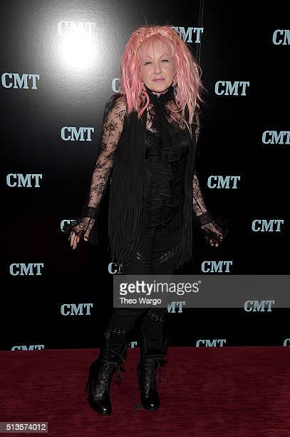 Cyndi Lauper attends Viacom Kids And Family Group Upfront Event at Frederick P Rose Hall Jazz at Lincoln Center on March 3 2016 in New York City