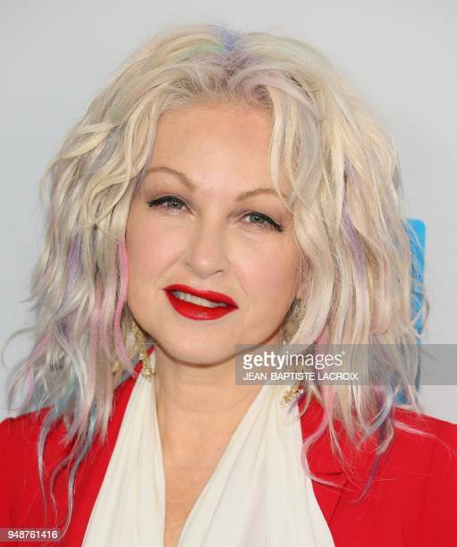 Cyndi Lauper attends WE Day California at The Forum in Inglewood California on April 19 2018