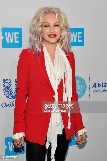 Cyndi Lauper attends WE Day California at The Forum on April 19 2018 in Inglewood California