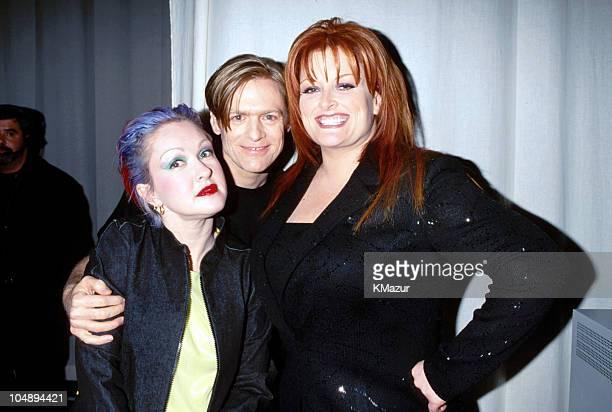 Cyndi Lauper Bryan Adams and Wynonna Judd during TNT's 'All Star Tribute To Joni Mitchell' in New York City New York United States
