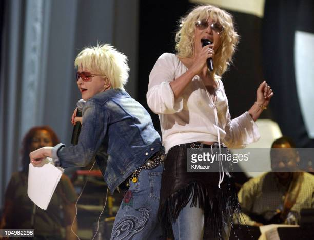 Cyndi Lauper Cher during VH1 Divas Las Vegas at the MGM Grand Garden Arena at MGM Grand Garden Arena in Las Vegas Nevada United States