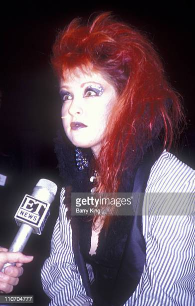 Cyndi Lauper during 2nd Annual American Video Awards at Wilshire Ebell Theater in Los Angeles California United States