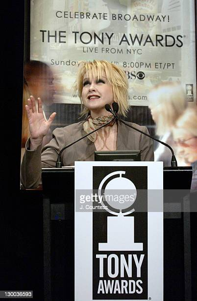 Cyndi Lauper during 58th Annual Tony Awards Nominee Announcements at Hudson Theater in New York City New York United States