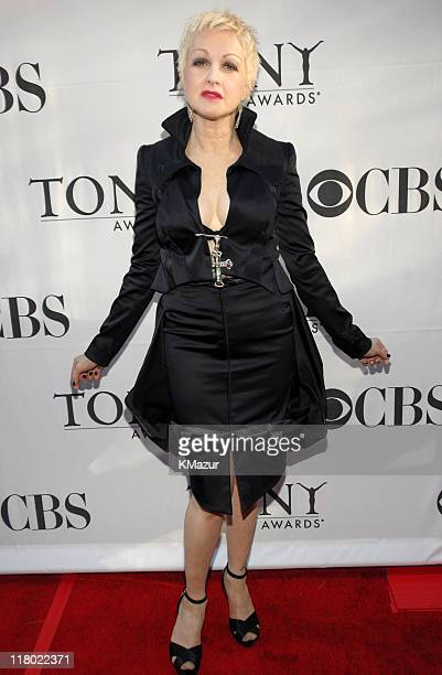 Cyndi Lauper during 60th Annual Tony Awards Red Carpet at Radio City Music Hall in New York City New York United States
