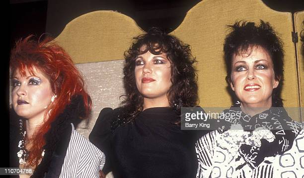 Cyndi Lauper Martha Davis and Grace Slick during 2nd Annual American Video Awards at Wilshire Ebell Theater in Los Angeles California United States