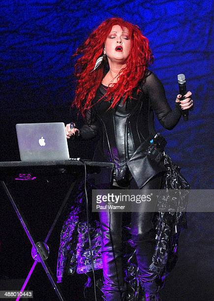 Cyndi Lauper performs as a opening act for Cher in concert at Quicken Loans Arena on May 2 2014 in Cleveland Ohio