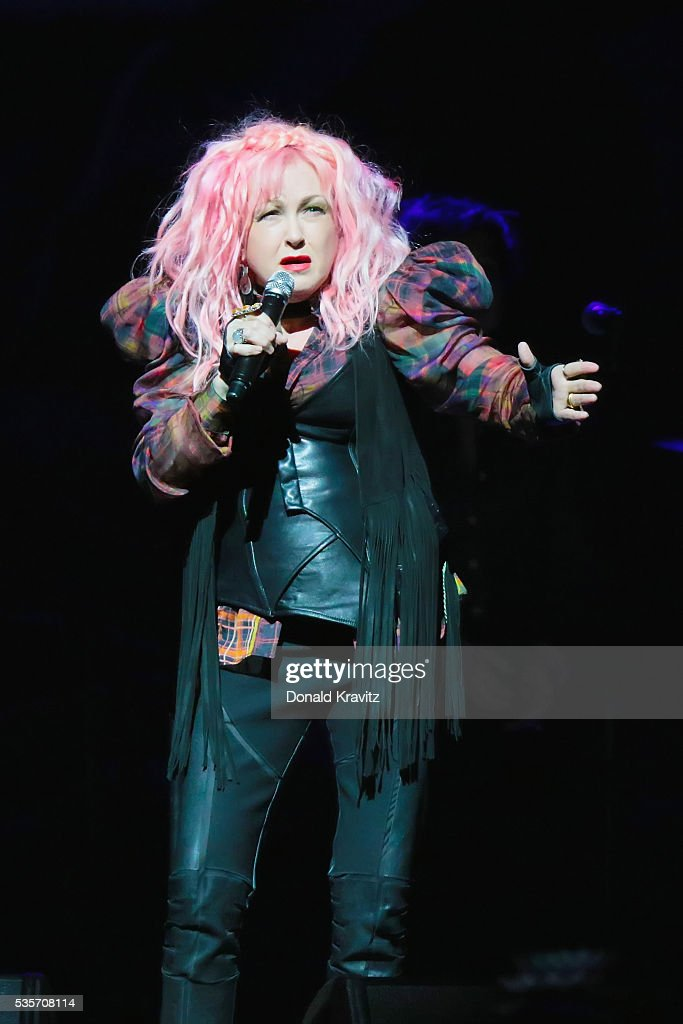 Cyndi Lauper performs as part of the Cyndi Lauper & Boy George In Concert with guest Rosie O'Donnell at The Borgota Hotel Casino & Spa on May 29, 2016 in Atlantic City, New Jersey.