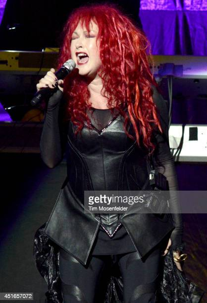 "Cyndi Lauper performs as part of the ""D2K Tour"" at SAP Center on July 2, 2014 in San Jose, California."