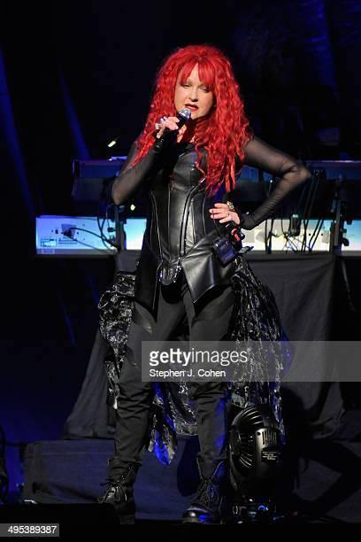 Cyndi Lauper performs at KFC YUM! Center on June 2, 2014 in Louisville, Kentucky.