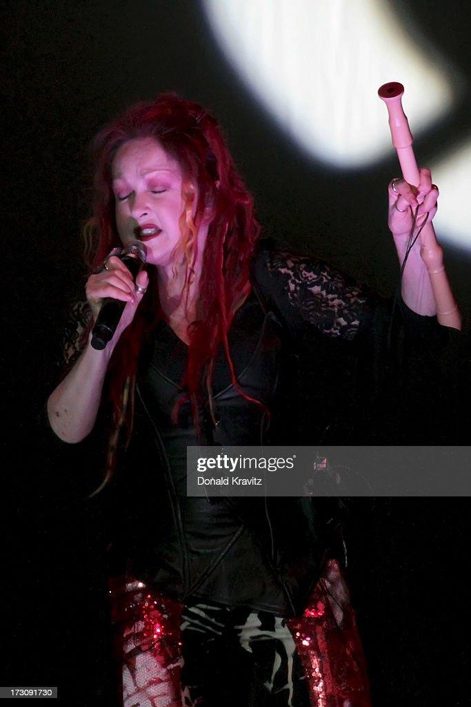 Cyndi Lauper performs at the Mark G. Etess Arena - Trump Taj Mahal on July 6, 2013 in Atlantic City, New Jersey.