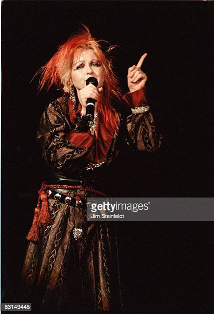 Cyndi Lauper performs at the Roy Wilkins Auditorium in St Paul Minnesota on December 9 1984