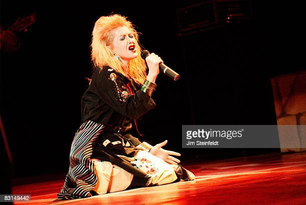 Cyndi Lauper performs in Minnesota in 1986