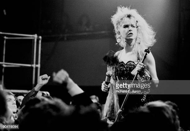 Cyndi Lauper performs live on stage in Los Angeles in 1984