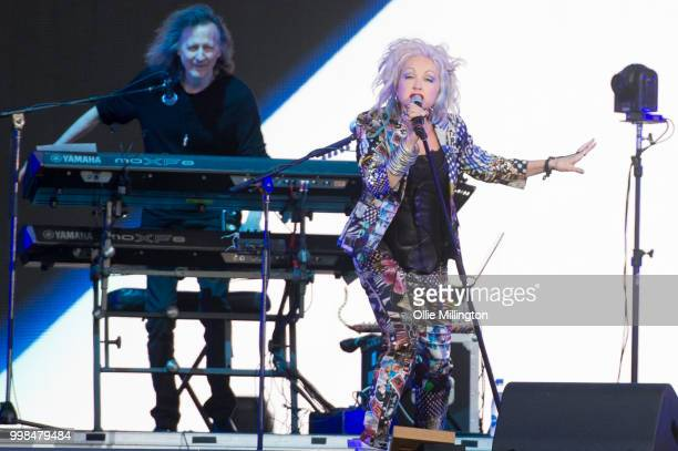 Martinique Pelser of LeftOvers performs on the Lotto Quebec Stage during day 9 of the 51st Festival d'ete de Quebec on July 13 2018 in Quebec City...
