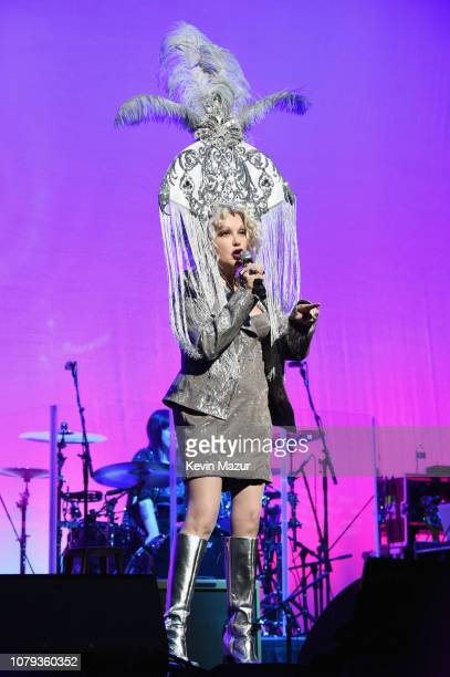 Cyndi Lauper performs onstage during Cyndi Lauper's 8th Annual 'Home For The Holidays' Benefit Concert at Beacon Theatre on December 08, 2018 in New...