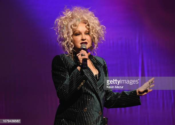 Cyndi Lauper performs onstage during Cyndi Lauper's 8th Annual 'Home For The Holidays' Benefit Concert at Beacon Theatre on December 08 2018 in New...