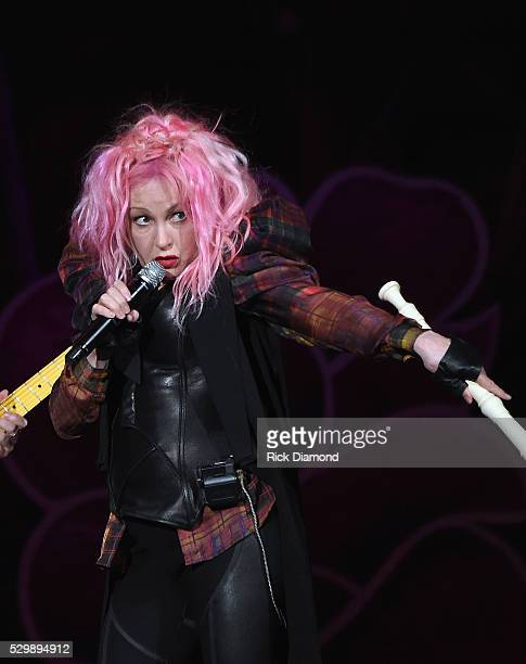 Cyndi Lauper performs opening night of her 2016 concert Tour at Ryman Auditorium on May 9 2016 in Nashville Tennessee