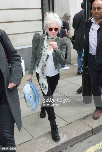 Cyndi Lauper seen leaving the BBC studios on May 30 2018 in London England