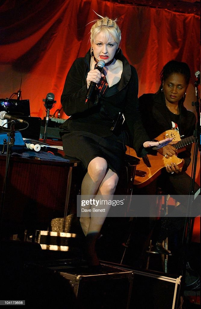 Cyndi Lauper Showcased Her New Album, Cyndi Lauper At Last, At The Cafe De Paris In London
