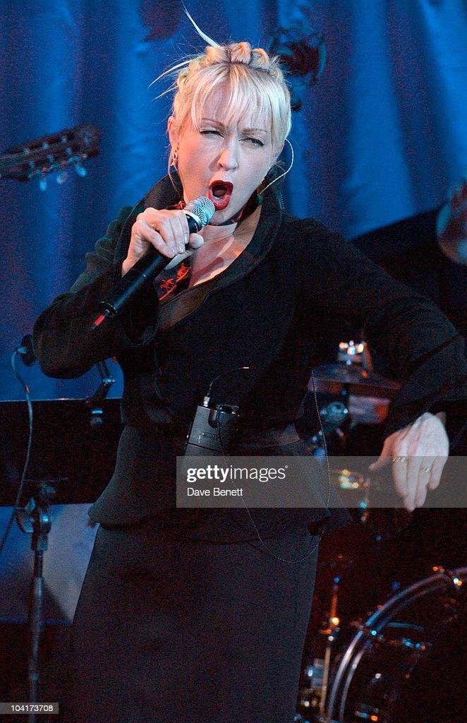 Cyndi Lauper Showcased Her New Album, Cyndi Lauper At Last, At The Cafe De Paris In London